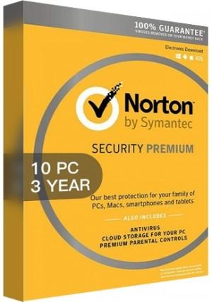 Norton Security Premium 3 Multi Device - 10 Devices/3 Years