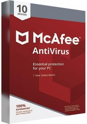 McAfee Antivirus - 10 PCs/1 Year