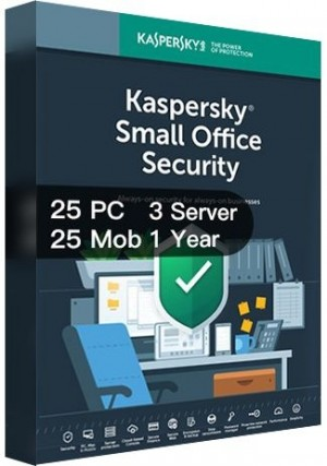 Kaspersky SMALL Office Security Version 7 / 25PCs + 25Mobs + 3Servers (1 Year)
