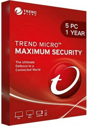 Trend Micro Maximum Security Multi Device / 5 Devices (1 Year)