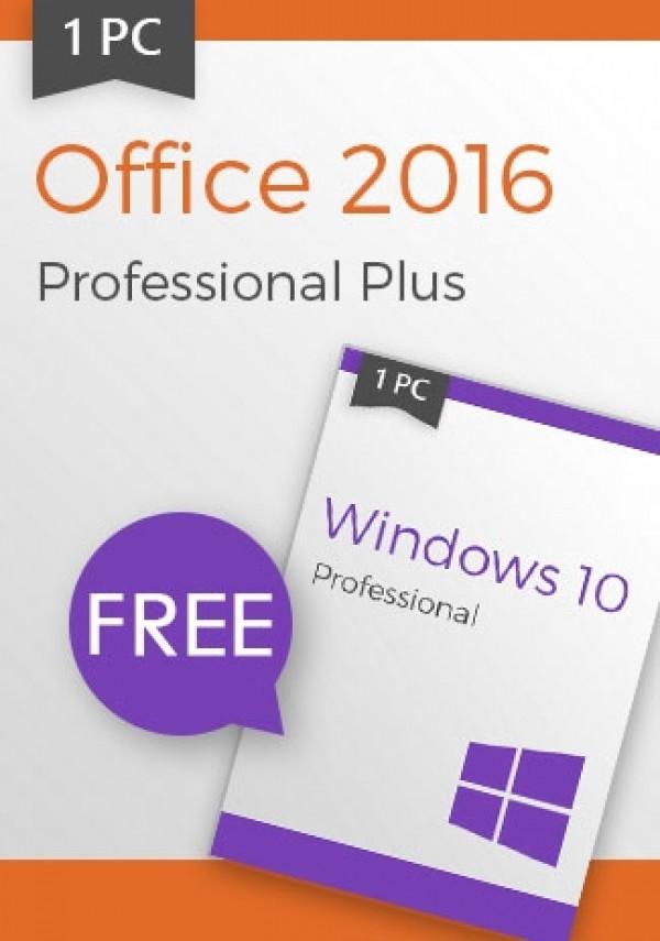 Microsoft Windows 10 Pro + Office 2016 Pro - Package