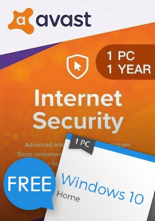 Windows 10 Home + Avast Internet Security 1 PC 1 Year